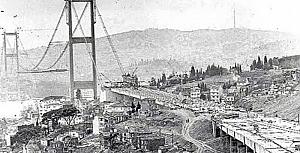 1970-1973 Boğaziçi Köprüsü İnşaatı