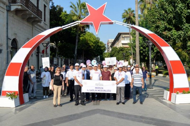 Dünya Yürüyüş Günü'nde 'Sağlıklı Yaşam' Dediler