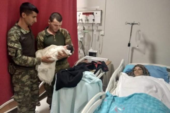 Tel Abyad'da Doğum Sancısı Tutan Ziheyye Kızına 'Pınar' İsmini Verdi